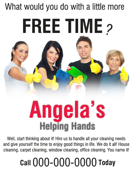 Cleaning Flyer Sample